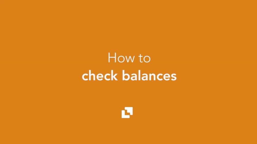 check balances